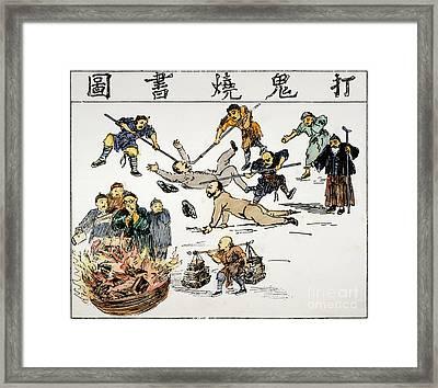 China: Anti-west Cartoon Framed Print by Granger
