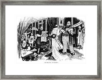 Press Cartoon, 1912 Framed Print by Granger