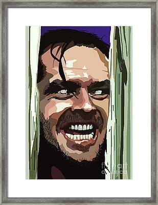 008. Heres Johnny Framed Print by Tam Hazlewood