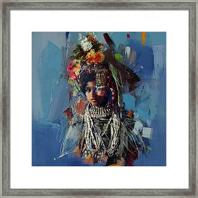 009 Kazakhstan Culture Framed Print by Maryam Mughal