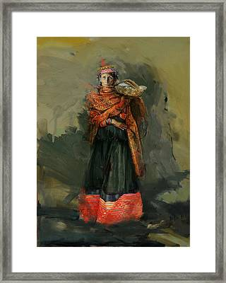 010 Kazakhstan Culture Framed Print by Maryam Mughal