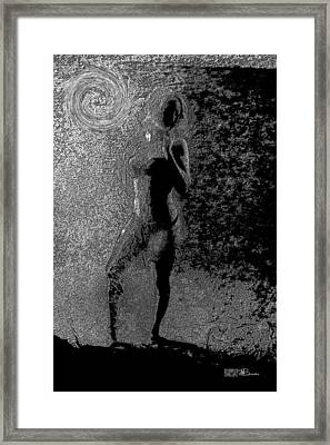 011 Series Behind The Curtain  Framed Print by Mark Brooks
