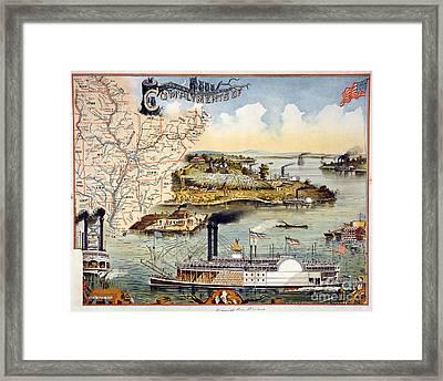 Mississippi Steamboat Framed Print by Granger