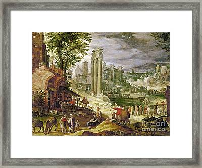 Roman Forum, 16th Century Framed Print by Granger