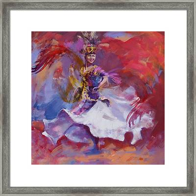 014 Kazakhstan Culture Framed Print by Maryam Mughal