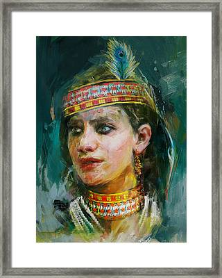 015 Kazakhstan Culture Framed Print by Maryam Mughal