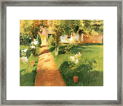 Millets Garden Framed Print by John Singer Sargent