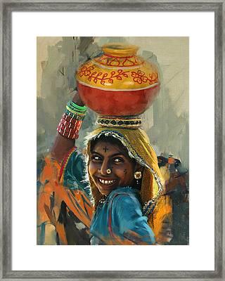 028 Sindh Framed Print by Mahnoor Shah