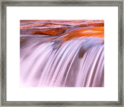 Flowing Framed Print by Mikes Nature