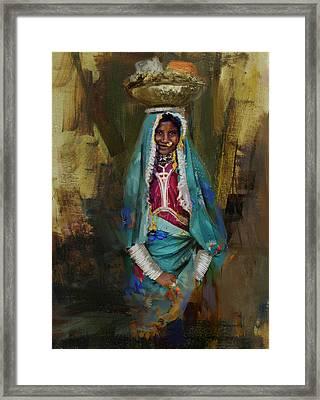 030 Sindh Framed Print by Maryam Mughal