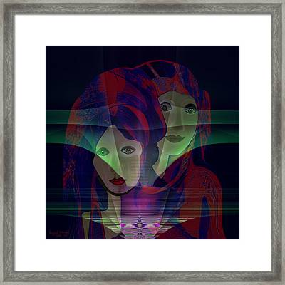 036 - Two Faces Of  Night  Framed Print by Irmgard Schoendorf Welch