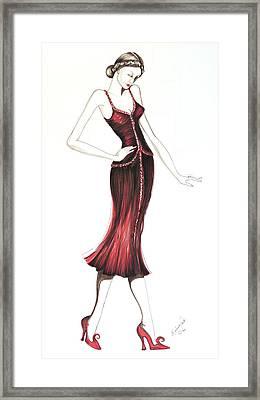 07 Framed Print by Malusa  Pinto