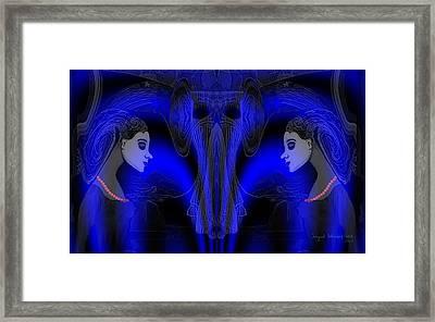 095 - Blue Haze   Framed Print by Irmgard Schoendorf Welch