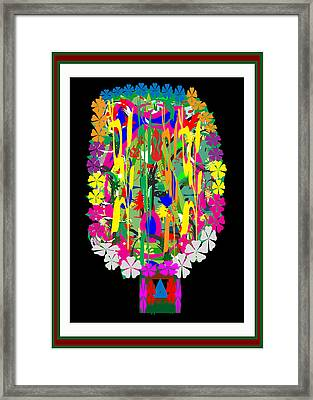 Flower Bouquet  Colorful Abstract Art For Interior Decoration  By Navinjoshi Framed Print by Navin Joshi