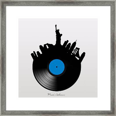 New York Framed Print by Mark Ashkenazi