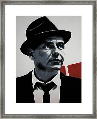 - Sinatra - Framed Print by Luis Ludzska