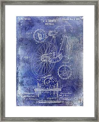 1899 Bicycle Patent Framed Print by Jon Neidert