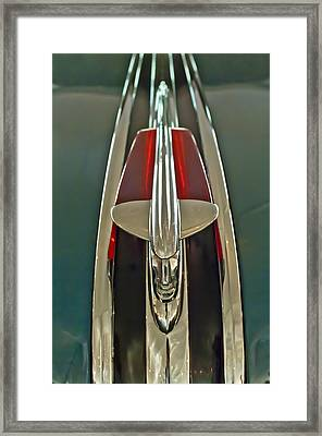 1948 Pontiac Chief Hood Ornament Framed Print by Jill Reger