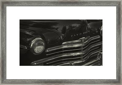 1949 Plymouth Deluxe  Framed Print by Cathy Anderson