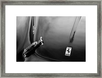 1950 Ferrari Hood Emblem Framed Print by Jill Reger