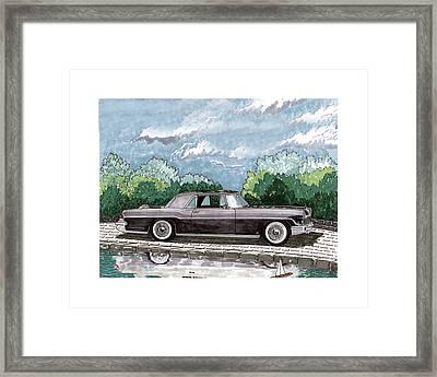 1956  Lincoln Continental Mk II Framed Print by Jack Pumphrey