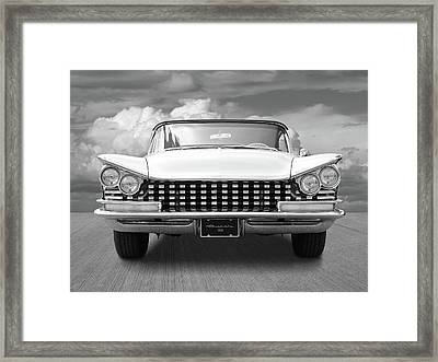 1959 Buick Grille And Headlights Framed Print by Gill Billington