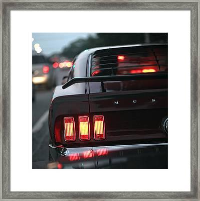 1969 Ford Mustang Mach 1 Framed Print by Gordon Dean II