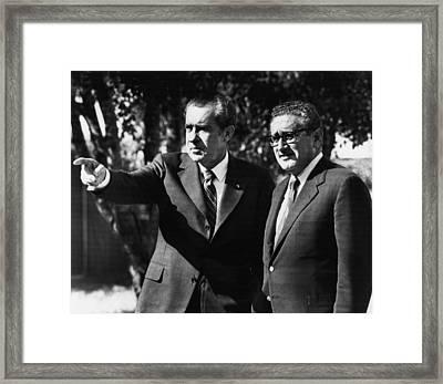 1972 Us Presidency, Cabinet.  Us Framed Print by Everett
