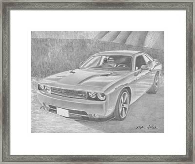 2013 Dodge Challenger Srt8 Classic Car Art Print Framed Print by Stephen Rooks