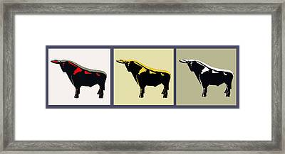 3 Bulls Framed Print by Slade Roberts