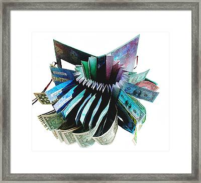 36 Ways To Lose Money Framed Print by Annie Alexander