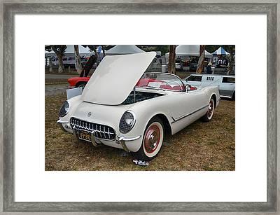 54 Corvette Framed Print by Bill Dutting
