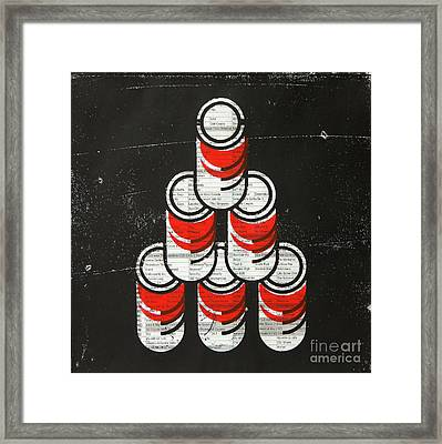 6 Soup Cans  Framed Print by Igor Kislev