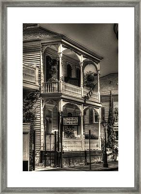905 Royal Hotel Framed Print by Greg and Chrystal Mimbs