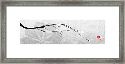 A Black Branch Framed Print by Nomi Elboim