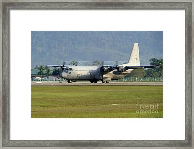 A C-130j Hercules Of The Royal Framed Print by Remo Guidi