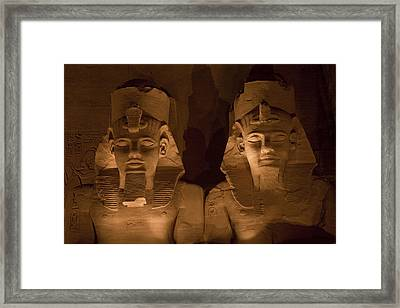 A Close View Of Ramses IIs Temple Framed Print by Taylor S. Kennedy