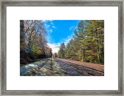 A Dusting Of Snow On The Tracks Framed Print by David Patterson