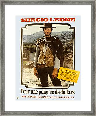 A Fistful Of Dollars Aka Per Un Pugno Framed Print by Everett