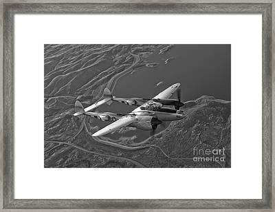 A Lockheed P-38 Lightning Fighter Framed Print by Scott Germain