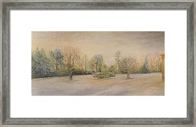 A Snowy Morn At Dalhebity Framed Print by Douglas Ann Slusher