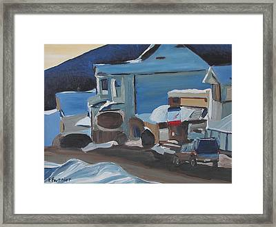 A Stop At The Corner Store Framed Print by Francois Fournier