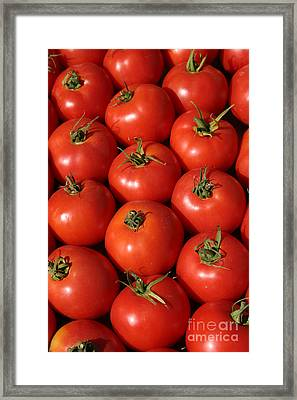 A Trip Through The Farmers Market With Red Tomatoes Framed Print by Michael Ledray