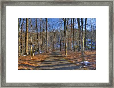 A Winter's Walk Framed Print by Stephen Younts