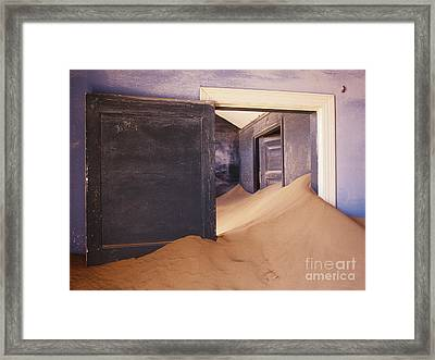 Abandoned House Filled With Drifting Sand Framed Print by Jeremy Woodhouse