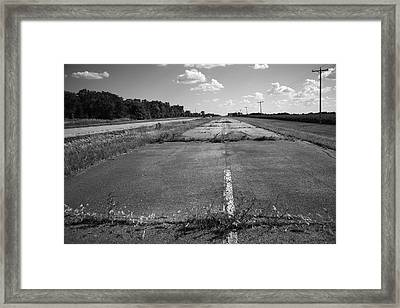 Abandoned Route 66 Framed Print by Frank Romeo