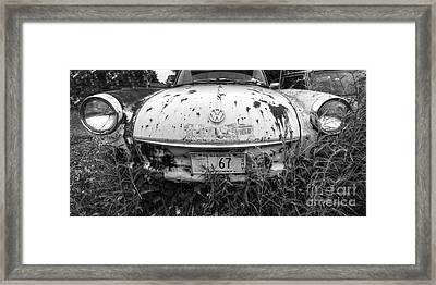 Abaondoned Car Along Route 66 Framed Print by Twenty Two North Photography