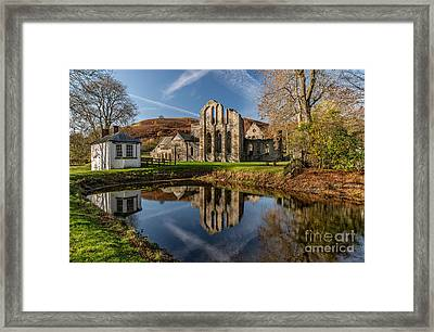 Abbey Reflection Framed Print by Adrian Evans