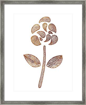 Abstract Flower Framed Print by Frank Tschakert