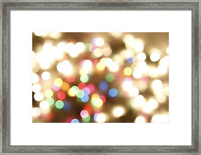 Abstract Lights Framed Print by Les Cunliffe